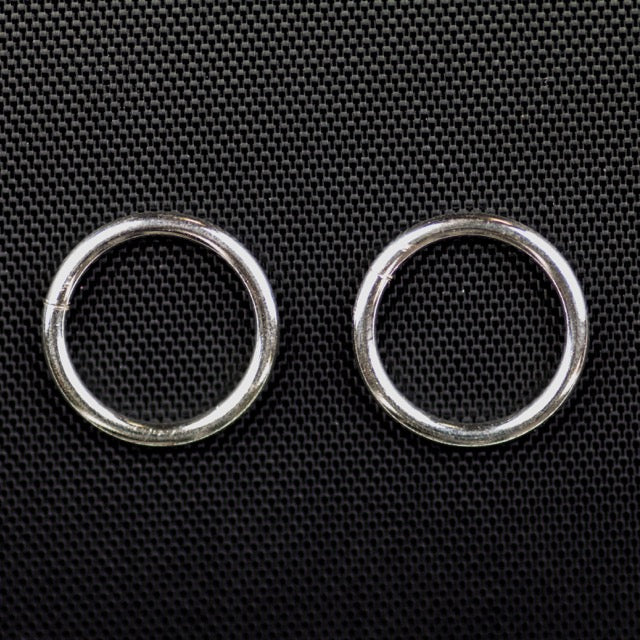 "Sterling Silver 16 gauge .051""/12mm OD Jump Ring - Open"
