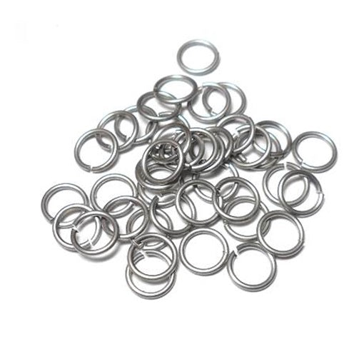 20awg(0.8mm) 1/8in. (3.4mm) ID 4.3AR Machine Cut Stainless Steel Jump Rings