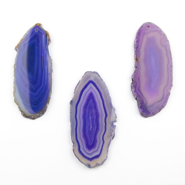 20-45mm x 50-95mm PURPLE AGATE Pendant