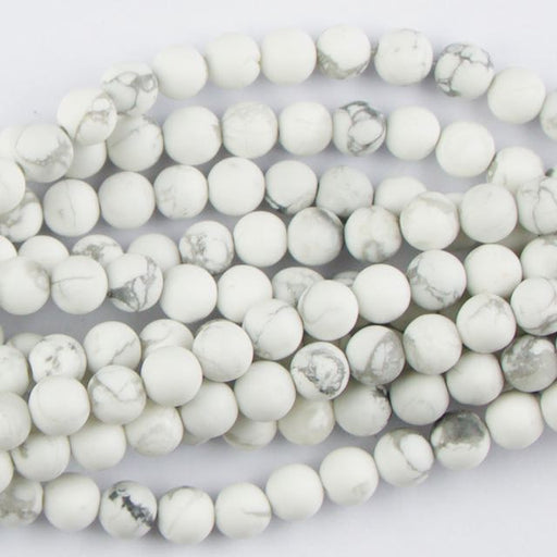 6mm  Matte WHITE HOWLITE