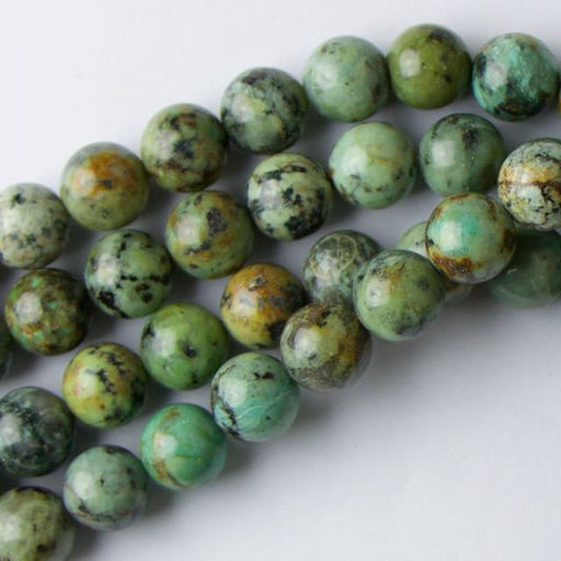 10mm Round AFRICAN TURQUOISE - 8 inch Strand
