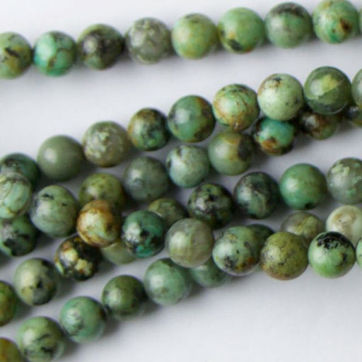 6mm Round AFRICAN TURQUOISE - 8 inch Strand