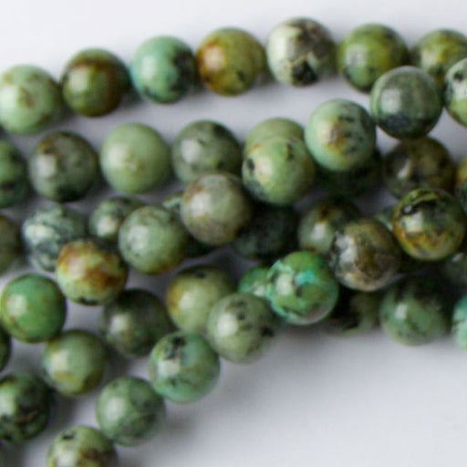 8mm Round AFRICAN TURQUOISE - 8 inch Strand