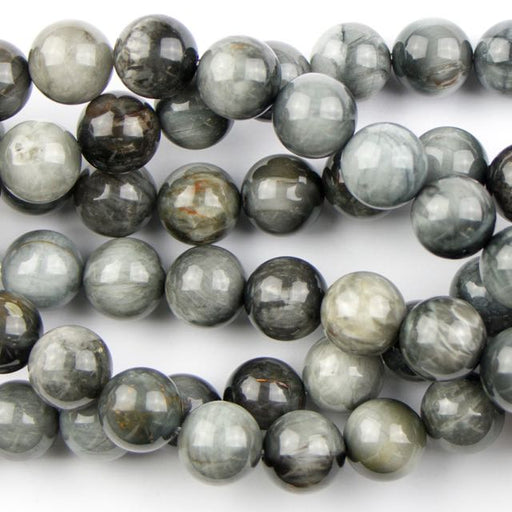 10mm Round CAT'S EYE - 8 inch Strand