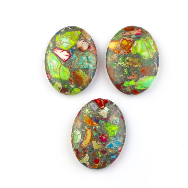30mm x 40mm MIXED IMPRESSION JASPER Oval