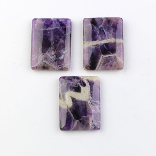 30mm x 40mm DOG TEETH AMETHYST Rectangle