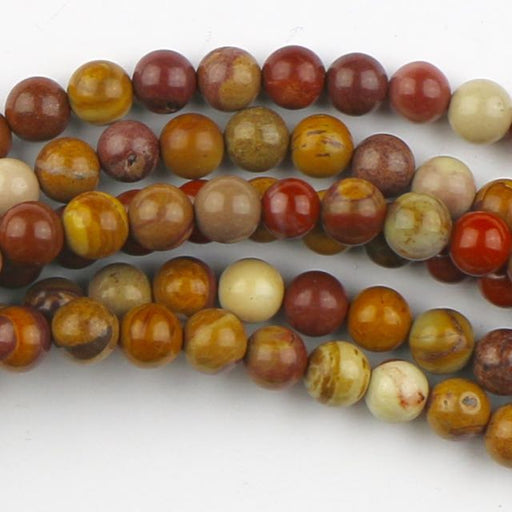 6mm Round SUNSET MOOKAITE - 8 inch Strand