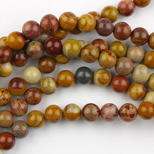 8mm Round SUNSET MOOKAITE - 8 inch Strand
