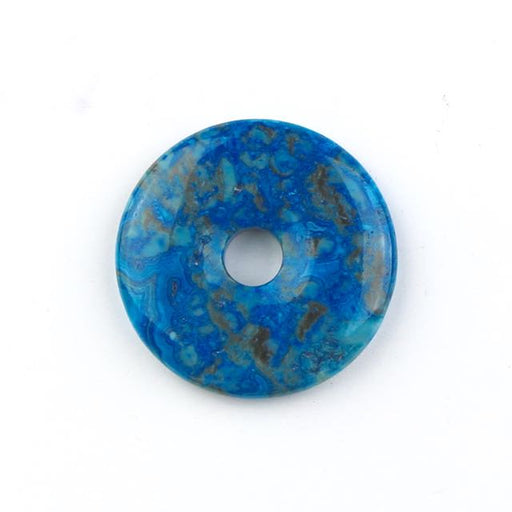 40mm BLUE CRAZY LACE AGATE Donut Pendant