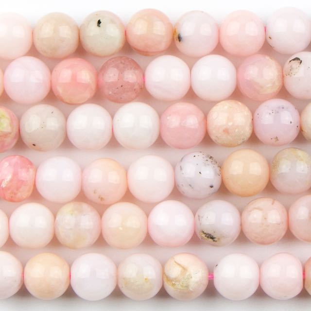 6mm Round PINK OPAL - 16 inch Strand