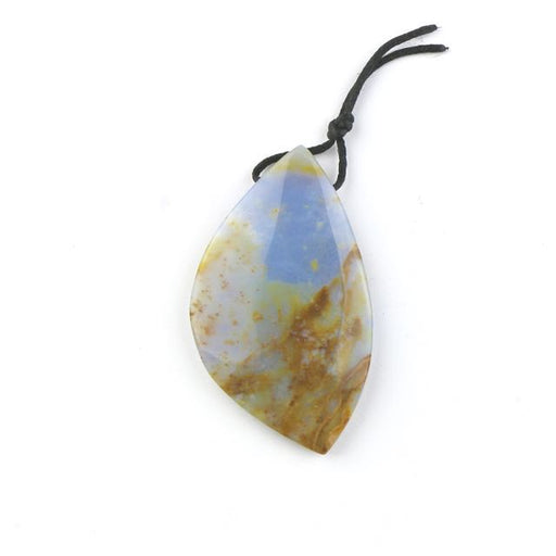 36mm x 50-62mm BLUE CHALCEDONY Free Form Pendant