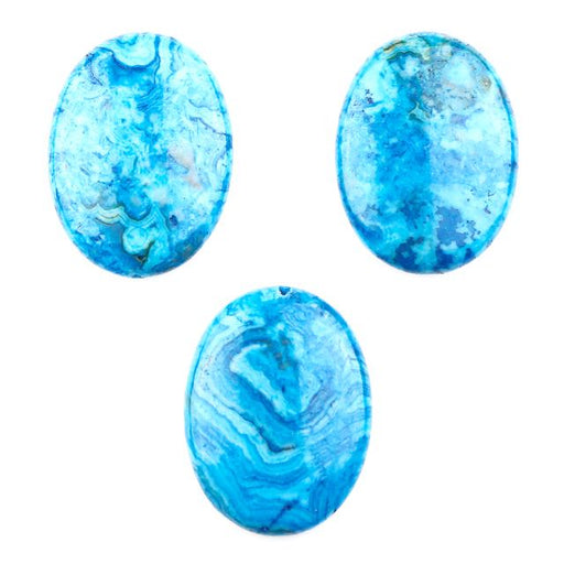30mm x 40mm Blue CRAZY LACE AGATE Oval