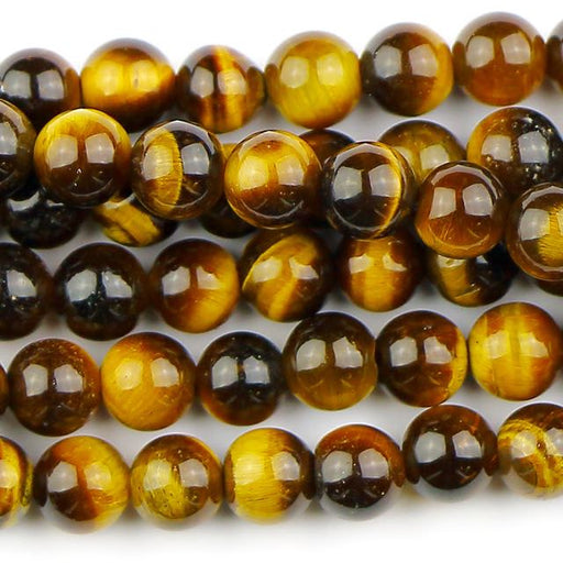 6mm Round TIGER EYE - 8 inch Strand