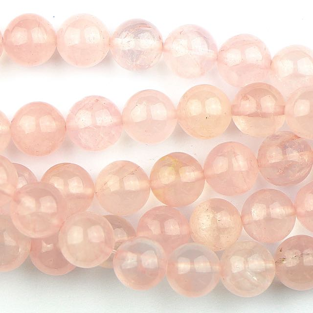 10mm Round ROSE QUARTZ - 8 inch Strand
