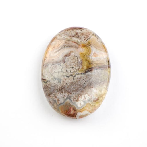 30mm x 40mm MEXICAN LAGUNA LACE AGATE Oval