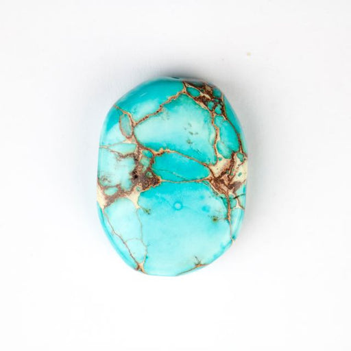 25mm x 35mm Aqua (Dyed) IMPRESSION JASPER Free Form Oval