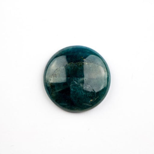 25mm BLUE APATITE Coin Cabochon