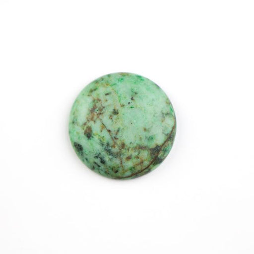 25mm Matte AFRICAN TURQUOISE Coin Cabochon