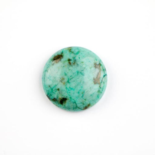 25mm AFRICAN TURQUOISE Coin Cabochon