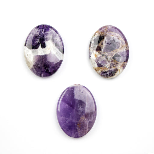 30mm x 40mm DOG TEETH AMETHYST Oval