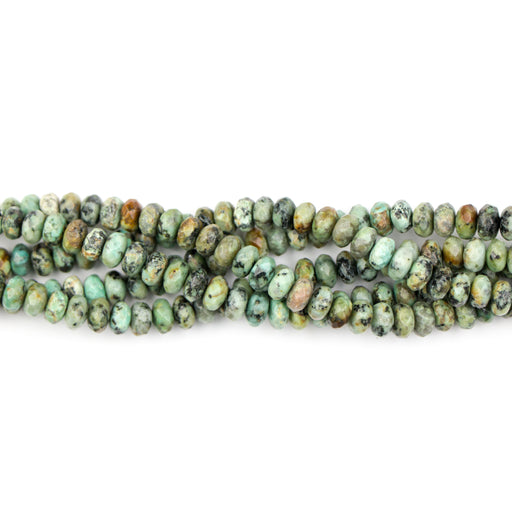 8mm Faceted Rondelle AFRICAN TURQUOISE - 8 inch Strand***
