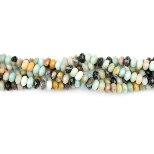8mm Faceted Rondelle BLACK-GOLD AMAZONITE - 8 inch Strand***
