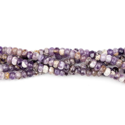 8mm Faceted Rondelle DOG TEETH AMETHYST - 8 inch Strand