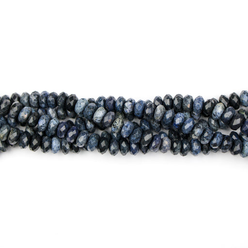 8mm Faceted Rondelle DUMORTIERITE - 8 inch Strand***