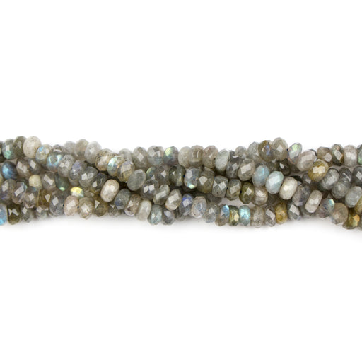 8mm Faceted Rondelle LABRADORITE (A) - 8 inch Strand***