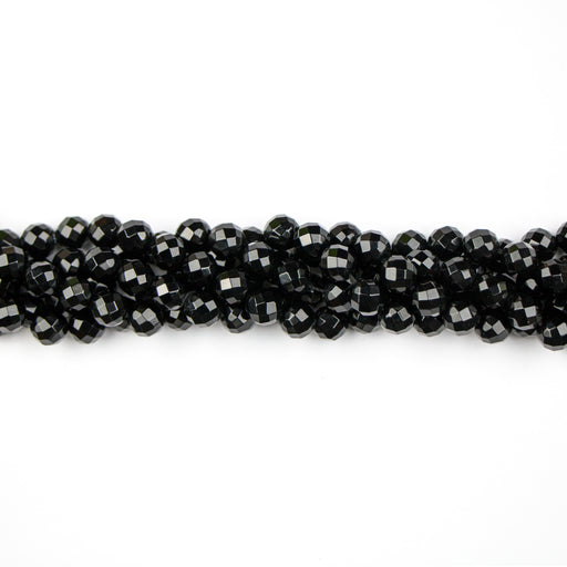 8mm Round Faceted ONYX - 8 inch Strand***