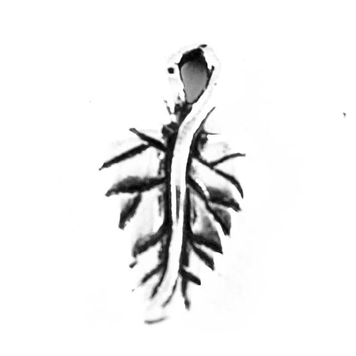 Ivy Leaf Charm - Antique Silver Plate
