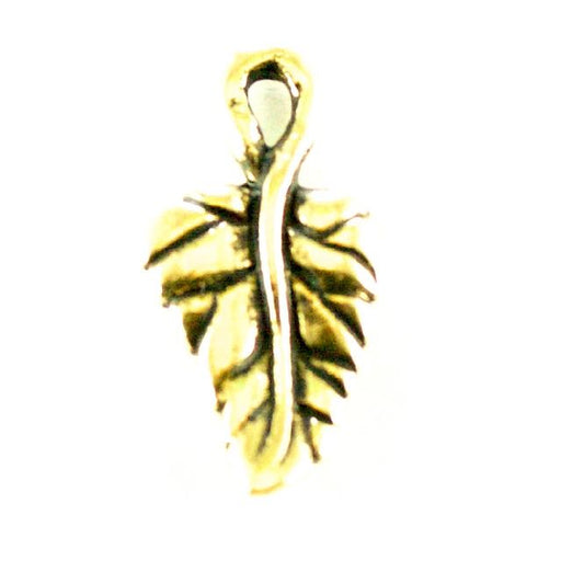 Ivy Leaf Charm - Antique Gold Plate