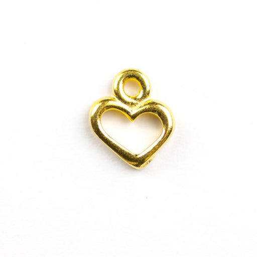 Open Heart Charm - Gold Plate