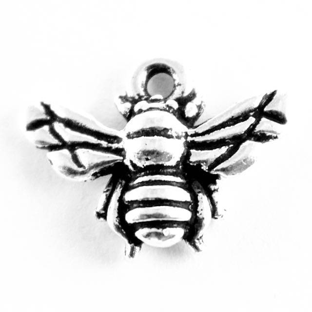 Honeybee Charm - Antique Silver