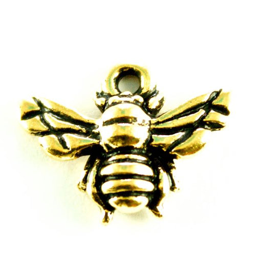 Honeybee Charm - Antique Gold