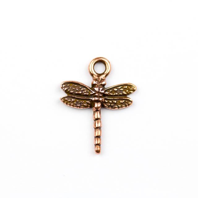Dragonfly Charm - Antique Copper