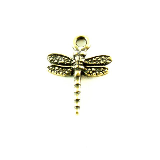 Dragonfly Charm - Brass Oxide