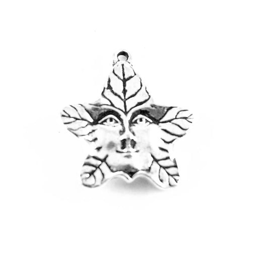 Tree Spirit Charm  - Antique Silver Plate