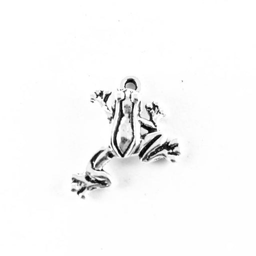 Leap Frog Charm - Antique Silver