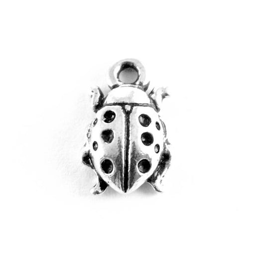 Ladybug Charm - Antique Silver Plate