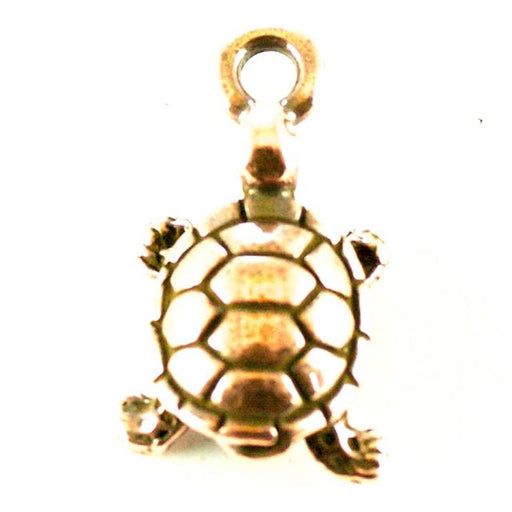 Turtle Charm - Antique Copper Plate