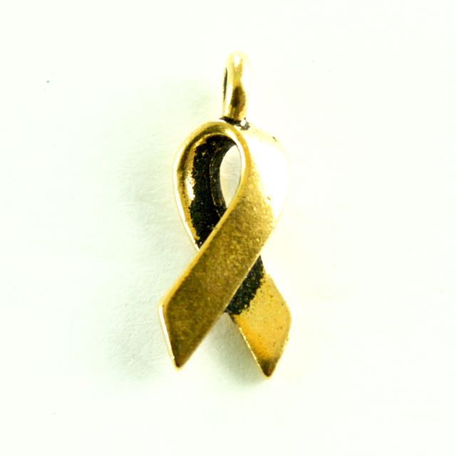 Awareness Charm - Antique Gold Plate