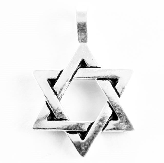 Star of David Charm - Antique Silver Plate