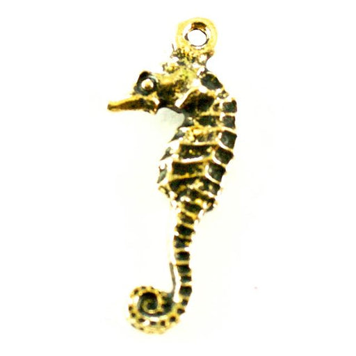 Seahorse Charm - Antique Gold Plate