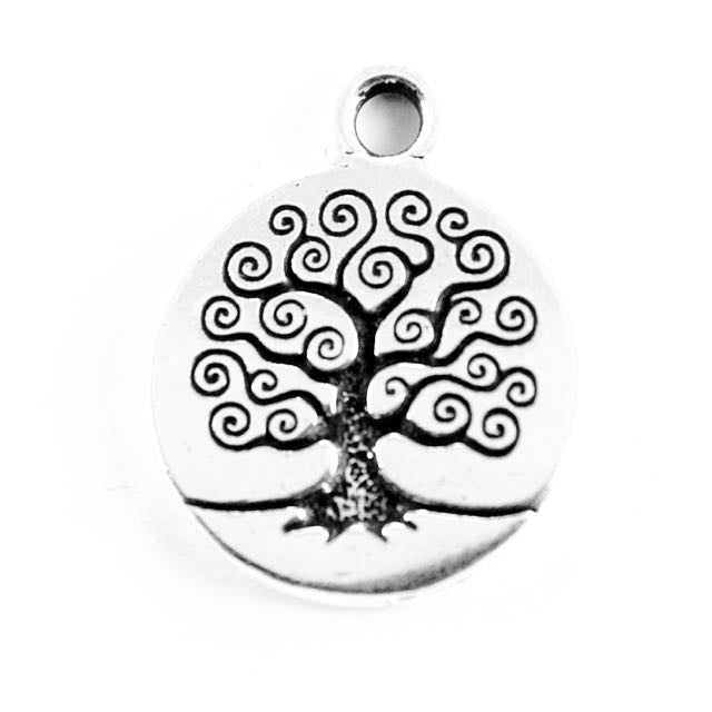 Tree of Life Charm - Antique Silver Plate