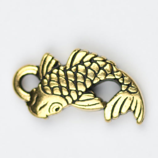 KOI Charm - Antique Gold Plate