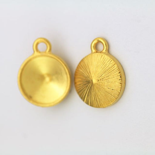 12mm Plain Round Drop Frame - Gold Plate
