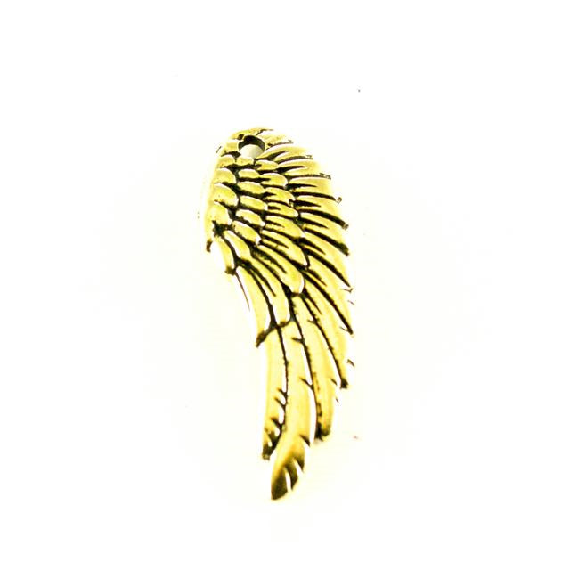 Wing Charm - Antique Gold