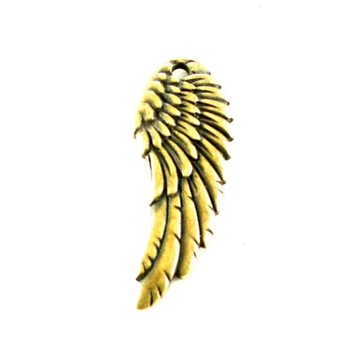 Wing Charm - Brass Oxide