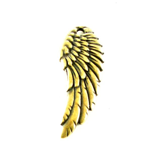 Wing Charm - Oxidized Brass